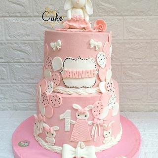 Rabbit cake baby girl baby