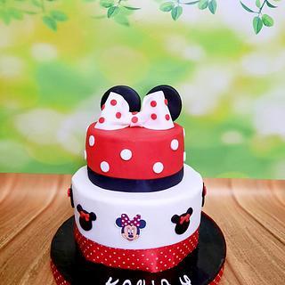 """Minnie Mouse Cake"""