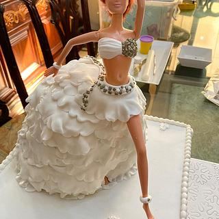 Barbie cake for bride