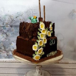 For granny gardener:) - Cake by SojkineTorty