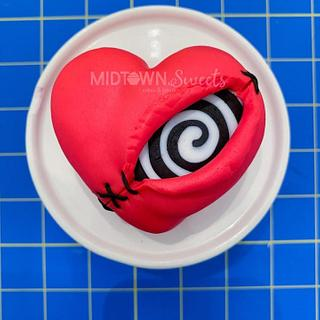 Tim Burton Mini Heart Cake