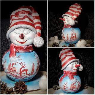 CHOCOLATE CHRISTMAS SNOW MAN - Cake by Viktory