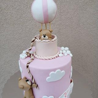 Sweet teddy cake