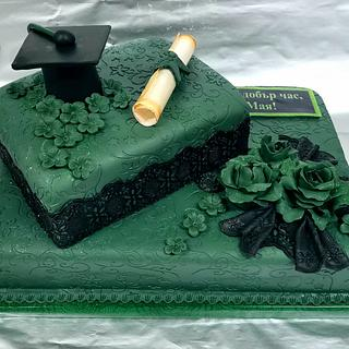 Lace and flowers Green cake