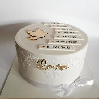Confirmation cake - Cake by Tortebymirjana
