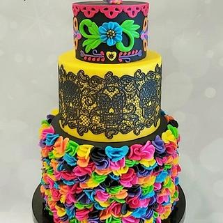 Day of the Dead cake - Cake by Bonnie Bakes UAE