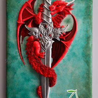 Mighty Dragons - Cake by Clarisa Borunda