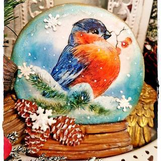 Christmas cookies/BIRD - Cake by Galya's Art