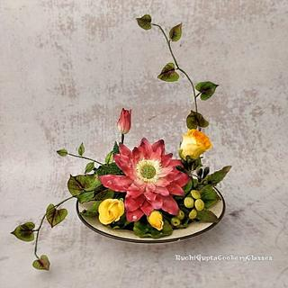 Lotus - Cake by Ruchi Gupta Cookery Classes
