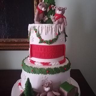Christmas baptismal cake - Cake by Federica Sampò