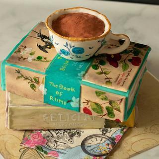 Books and tea - Cake by Smita Maitra (New Delhi Cake Company)
