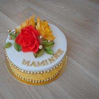 With sugar flowers  - Cake by Janka