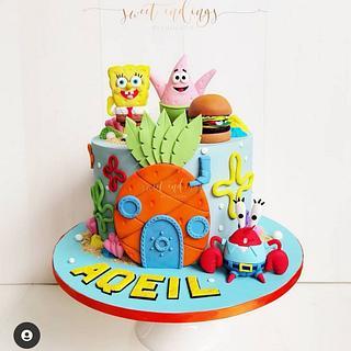 Spongebob Squarepants!!  - Cake by Lulu Goh