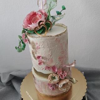 Wedding cake - Cake by Kaliss
