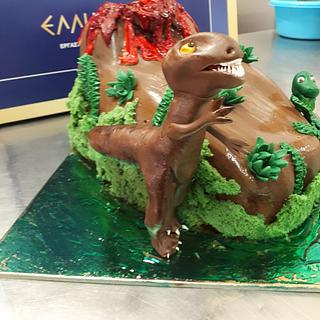 DINOSAUR - Cake by tzortzia