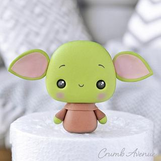 Baby Yoda Cake Topper - Cake by Crumb Avenue