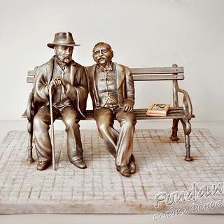 Monument to Pencho Slaveykov and Petko Slaveykov - Cake by FondanEli