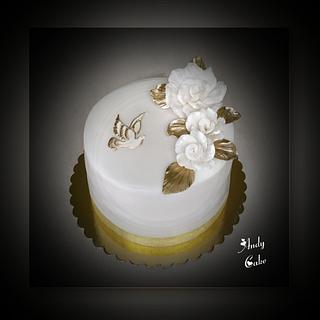 First holly communion cake