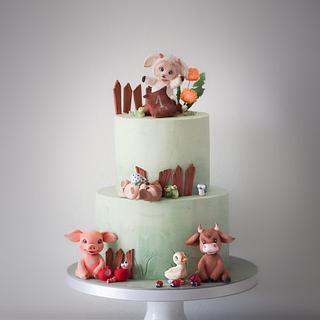 Farm cake - Cake by Annbakes