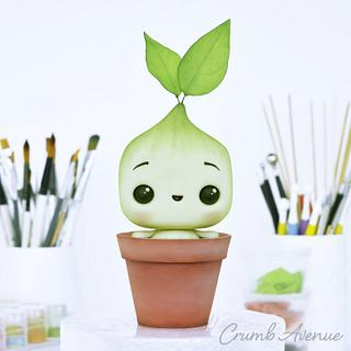 Baby Plant Cake Topper