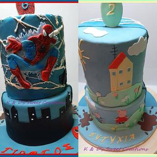 Double themed cake