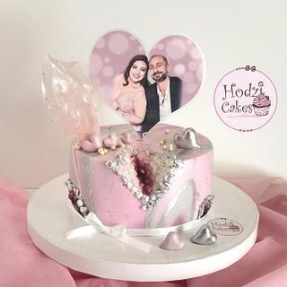 Anniversary Cake💖🌸 - Cake by Hend Taha-HODZI CAKES