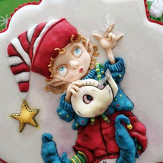 Little Santa Helper..... - Cake by The Cookie Lab  by Marta Torres