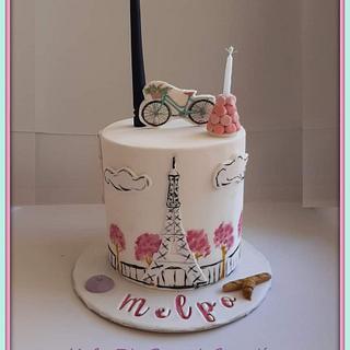 Paris themed birthday cake - Cake by Konstantina - K & D's Sweet Creations