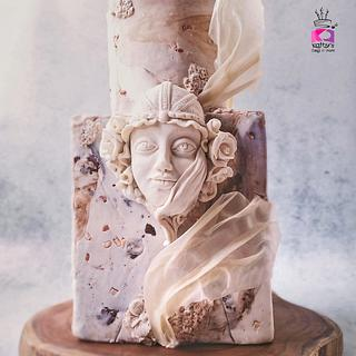 Art Nouveau Lady in Marble  - Cake by Chanda Rozario
