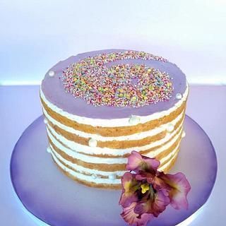 Cake in purple