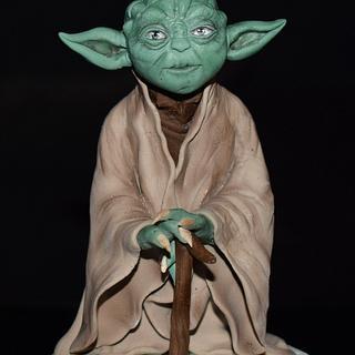 Yoda-Star Wars  - Cake by aniilievacakes