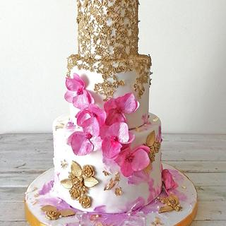 Wedding Cake  - Cake by Zaafirah Adams  - Zee's Cake Corner