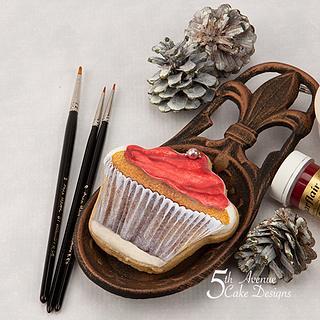 Scrumptious Christmas Cupcake Cookie Art ❄️🧁🔔