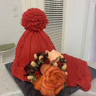 Birthday winter hat cake - Cake by alek0