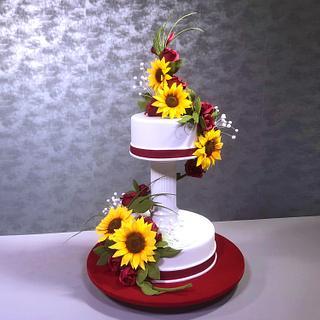 Sunflower Wedding Cake