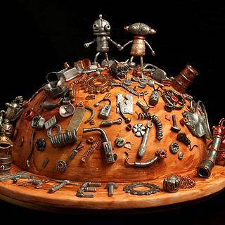 Machinarium cake - Cake by Lili Brankova