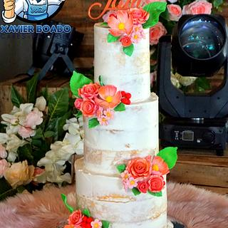 Rustic Rosegold - Cake by Xavier Boado