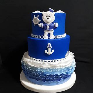 Blue Bear - Cake by Analía Martínez