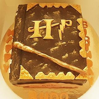 Birthday Cake.( zero fondant Harry Potter cake) - Cake by Suparna