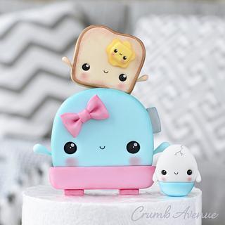 Cute Breakfast Cake Topper