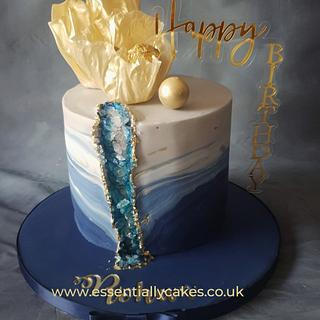 Blue geode - Cake by Essentially Cakes