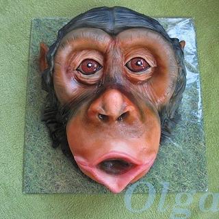 Chimpanzee - Cake by OlgaC