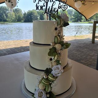 Faultline line weddingcake - Cake by Cake Rotterdam