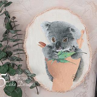 Dimensional Watercolor Baby Koala Cookie Art 🐨 - Cake by Bobbie