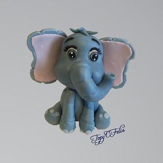 Baby elephant- cake topper