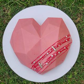 Heart shaped pinata cake - Cake by Tandeep