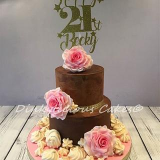 Becky's 21st Birthday Cake