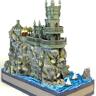 Swallow's nest castle!  - Cake by More_Sugar