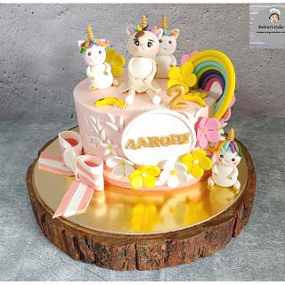 Cute unicorn theme cake - Cake by Rohini Punjabi