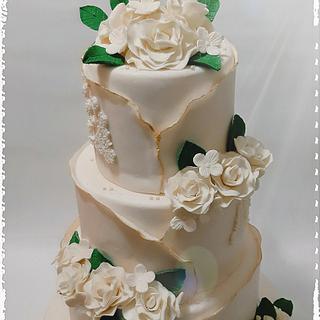 Wedding cake - Cake by zuccheroperpassione